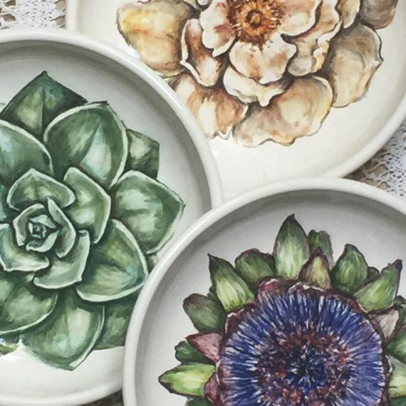 dibujos para decorar platos de cerámica
